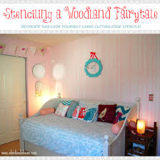 fairytale bedroom stenciling a woodland fairytale stencil stories stencil stories