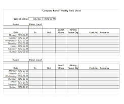 Free Timesheet Template Excel Sle Weekly Timesheet Weekly Timesheet Template 15 Timesheet