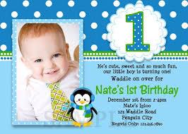 printable birthday invitations boys penguin invites