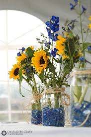 table centerpieces with sunflowers easy diy wedding reception centerpieces sunflower centerpieces