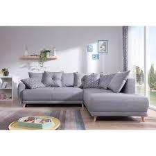 canapé nordique lena canapé scandinave d angle droit gris clair 236x90x190cm