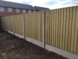 high quality pressure treated wooden timber garden fence panels