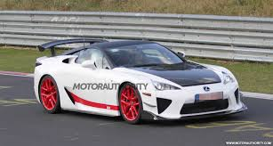 lfa lexus black another wild lexus lfa prototype spied at the nürburgring