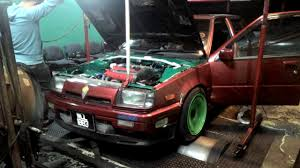 mitsubishi fiore hatchback proton saga turbo evo3 on dyno run vol 1 youtube