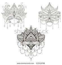 vector lotus flower set stock vector 572418766