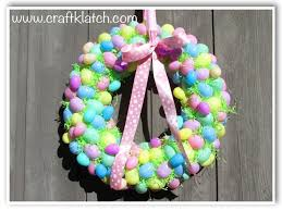 Easter Decorations For Wreaths by Diy Easter Egg Wreath Craft Klatch Youtube