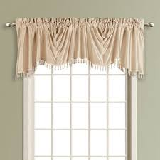 Solid Color Valances For Windows Luxury Collection Anna Solid Color Faux Silk Waterfall Valance