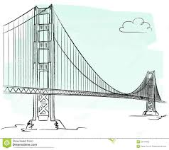 golden gate vector stock vector image of city cloud 23754465