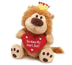 valentines day stuffed animals you make my heart roar 21 with heart pillow animal plush burton