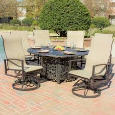 Aluminum Patio Table by Round Patio Table Set Heritage Outdoor Living Barbados Sling
