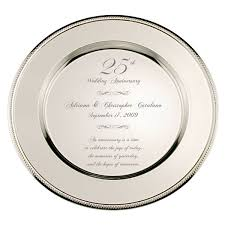 25th anniversary plate 25th wedding anniversary is the celebration of trust and