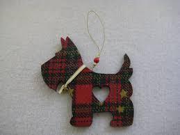 tartan scotty dog christmas tree decoration on etsy 4 95