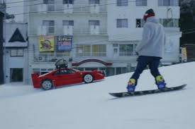 subaru drift snow take a behind the scenes look at the ferrari f40 snow drift video