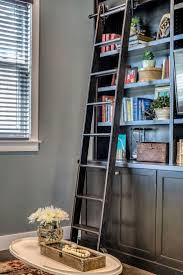 97 best bookshelves with library ladder images on pinterest