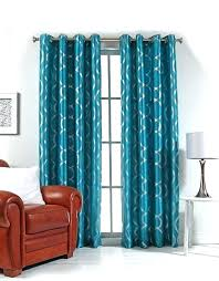 Retro Floral Curtains Teal Bird Curtains Image For Metallic Print Grommet Panel