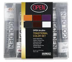 golden open acrylic sets blick art materials