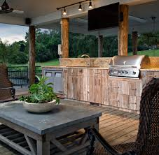 Barbecue Cabinets Barbecue Design Deck Traditional With Wood Cabinets Outdoor Tv