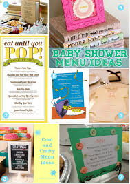 cool and creative baby shower menu design ideas
