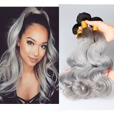 can ypu safely bodywave grey hair new 8a grade grey hair weave ombre 1b grey peruvian virgin body