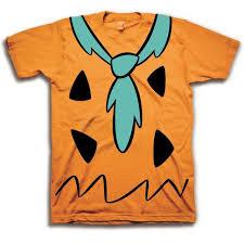 the flintstones the flintstones fred costume orange mens t shirt the flintstones