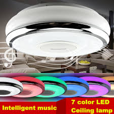 dimmable led ceiling lights intelligent mobile phone dimming led l 7 color light led ceiling