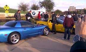 two corvettes seizure causes to crash camaro into two corvettes corvette