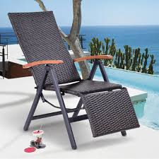 Patio Folding Chair Costway Rakuten Costway Patio Folding Chair Lounger Recliner