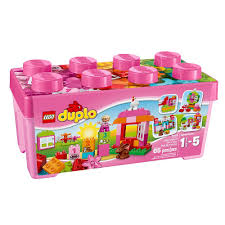 amazon com lego duplo all in one pink box of fun 10571
