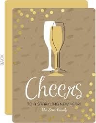 modern new years cards new years cards