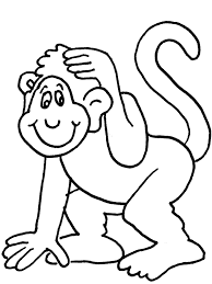 easy outlines of animals monkey animals coloring pages coloring book