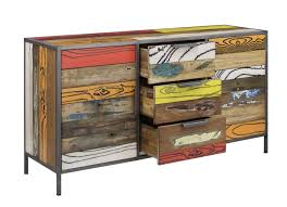 Reclaimed Sideboard Reclaimed Wood Sideboard Urban Colours Cast Iron Large Board