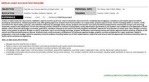chief accountant chief accountant cover letter u0026 resume
