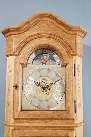 grandfather clock german grandfather clock telgte solid oak german grandfather clocks