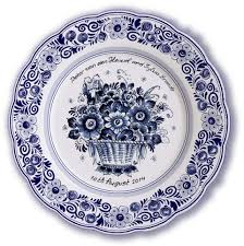birth plates personalized delft blue birth wedding plates delft blue plates