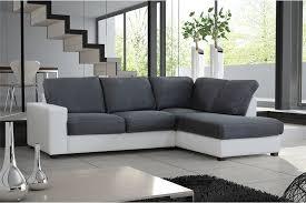 canapé d angle fixe canapé d angle cuir gris et blanc intérieur déco