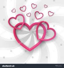 paper hearts valentines day love heart stock vector 574806841