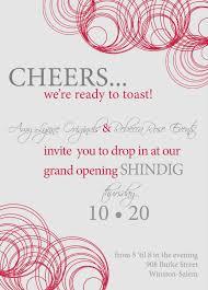 sample invitation for business open house wedding invitation sample