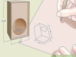 How To Build A Wall Cabinet by How To Build A Speaker Box 12 Steps With Pictures Wikihow
