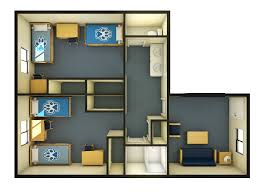 simple floor plan with 2 bedrooms housing services zinfandel village furnishings u0026 dimensions