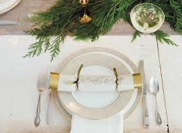 diy christmas table setting ideas live eco