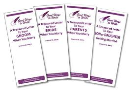 set of four treasured letter booklets to commemorate the marriage