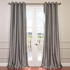 Light Gray Blackout Curtains Amazon Com Half Price Drapes Ptch Bo112 96 Gr Grommet Blackout