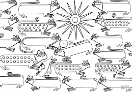huichol art cats coloring page free printable coloring pages