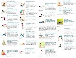 yoga poses pictures printable yoga poses printable chart