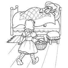 10 free printable red riding hood coloring pages