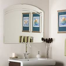 Frameless Mirror Bathroom by Best 25 Large Frameless Mirrors Ideas On Pinterest Floating