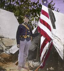 civil war color heroic scenes brought