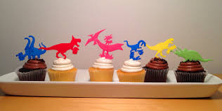 dinosaur cake topper 3d printed dinosaur cake toppers set of six by waylon pinshape