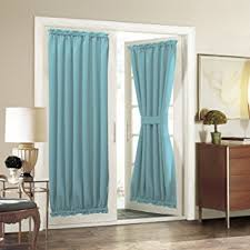 Glass Door Curtains Sliding Glass Door Curtain Panel Aquazolax Blackout