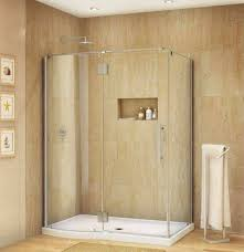 frameless corner shower stalls for small bathrooms with tempered